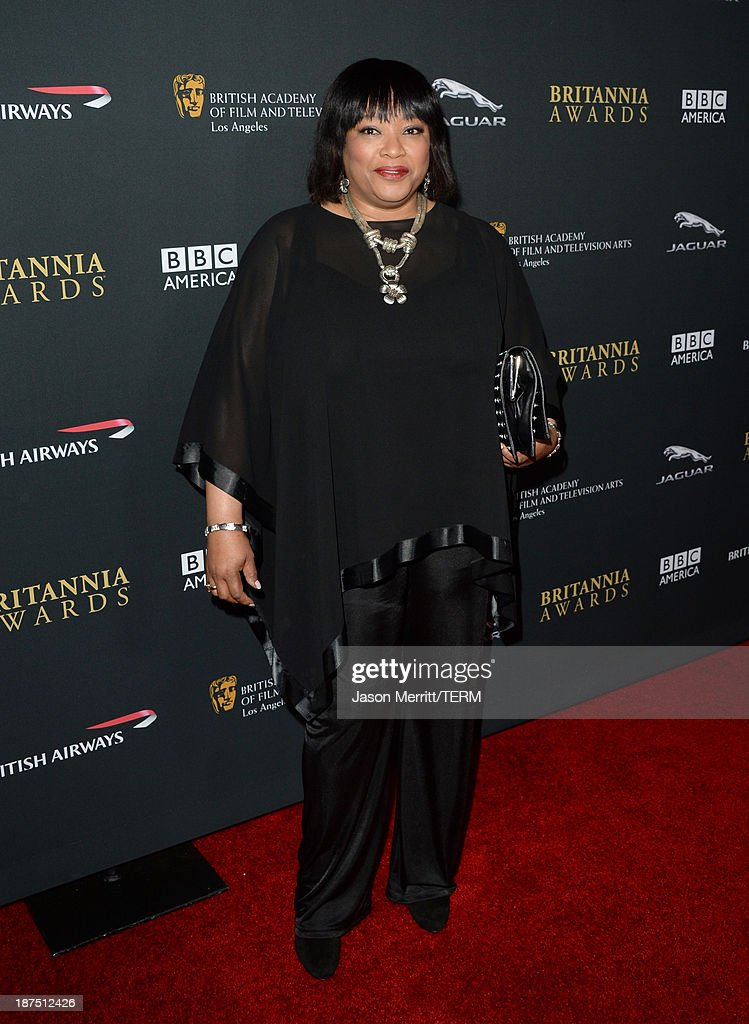 <a gi-track='captionPersonalityLinkClicked' href=/galleries/search?phrase=Zindzi+Mandela&family=editorial&specificpeople=4650558 ng-click='$event.stopPropagation()'>Zindzi Mandela</a> attends the 2013 BAFTA LA Jaguar Britannia Awards presented by BBC America at The Beverly Hilton Hotel on November 9, 2013 in Beverly Hills, California.