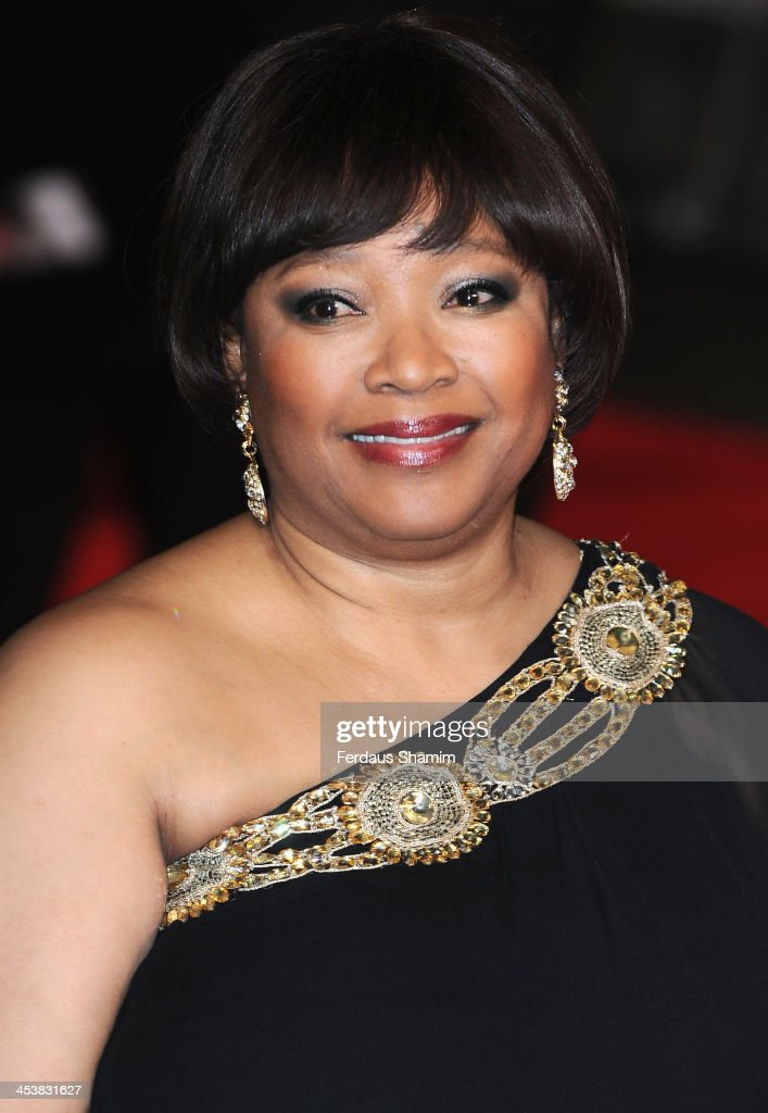 <a gi-track='captionPersonalityLinkClicked' href=/galleries/search?phrase=Zindzi+Mandela&family=editorial&specificpeople=4650558 ng-click='$event.stopPropagation()'>Zindzi Mandela</a> attends the Royal film performance of 'Mandela: Long Walk To Freedom' at Odeon Leicester Square on December 5, 2013 in London, United Kingdom.