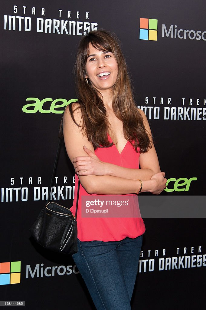 Zineb Oukach attends the 'Star Trek Into Darkness' screening at AMC Loews Lincoln Square on May 9, 2013 in New York City.