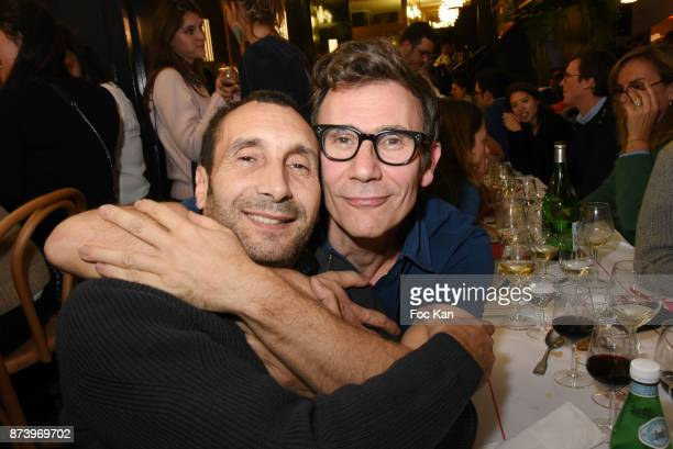 Zinedine Soualem and Michel Hazanavicius attend the Dinner at 'Le Bouillon' Restaurant as part 2 of 'Les Fooding 2018' Cocktail at Les Follies...