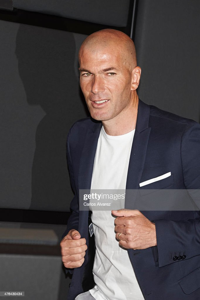 Mireia Belmonte and Zinedine Zidane Attends a Press Conference for the 'XII Edicion del Prix Dialogo a la Amistad Hispano-Francesa'