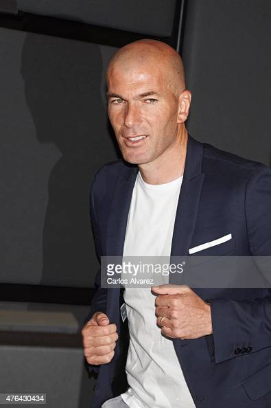 Zinedine Zidane attends the 10th 'Prix Dialogo a la Amistad HispanoFrancesa' photocall at the Uria Menendez Auditorium on June 9 2015 in Madrid Spain