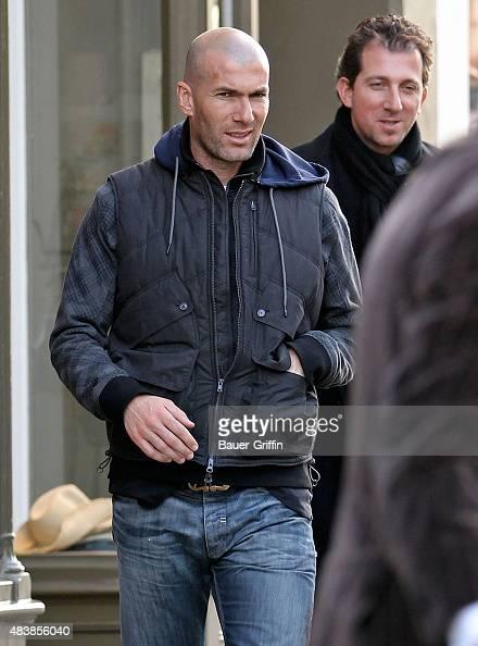 Zinedine Zidane is seen on March 10 2011 in London United Kingdom