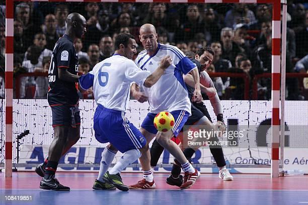 Zinedine Zidane Ludovic Giuly Youri Djorkaeff Sammy Traore in Paris France on March 29 2009