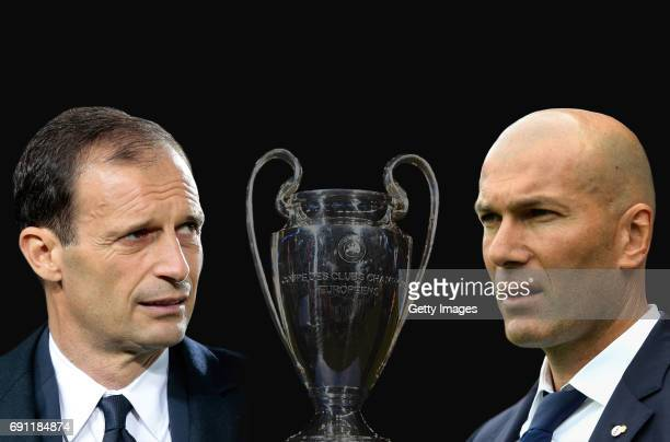 GRADIENT ADDED Image numbers 464313758686430224 In this composite image a comparision has been made between Juventus FC head coach Massimiliano...