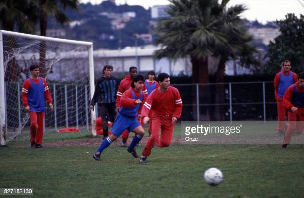 Zinedine Zidane of As Cannes during training session of As Cannes on March 1st 1991 in Cannes