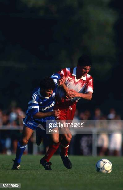 Zinedine Zidane of Cannes during the Friendly match between Cannes and Strasbourg on 11th July 1991