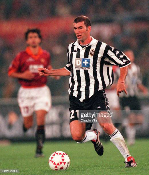 Zinedine Zidane of Juventus FC in action during the Serie A match between ROMA and JUVENTUS played at Olimpico stadium in Roma Italy