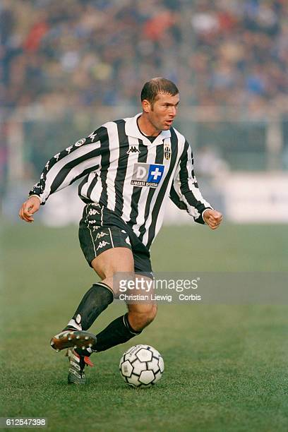 Zinedine Zidane playing for Juventus Turin in a Serie A match during the 19992000 season