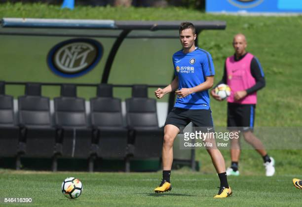 Zinho Vanheusden of FC Internazionale in action during a training session at Suning Training Center at Appiano Gentile on September 13 2017 in Como...