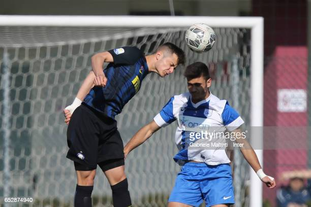 Zinho Vanheusden of FC Internazionale in action during the Viareggio juvenile tournament match between FC Internazionale and Pas Giannina at Stadio...