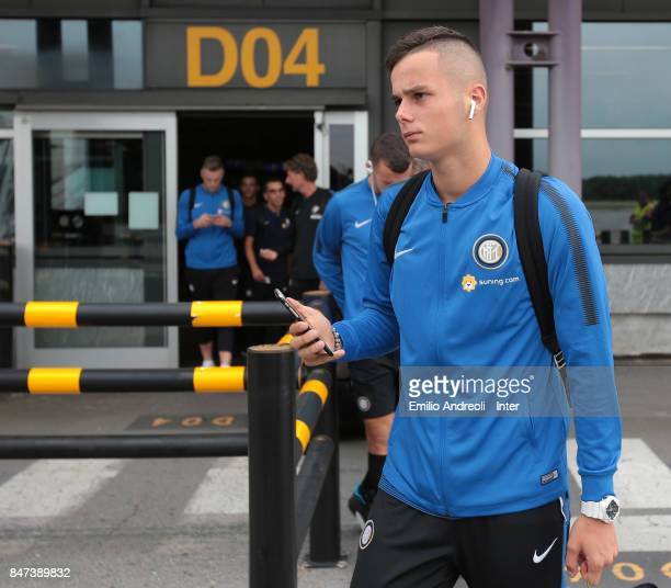 Zinho Vanheusden of FC Internazionale Milano as FC Internazionale travel to Crotone ahead of the Serie A match on September 15 2017 in Crotone Italy
