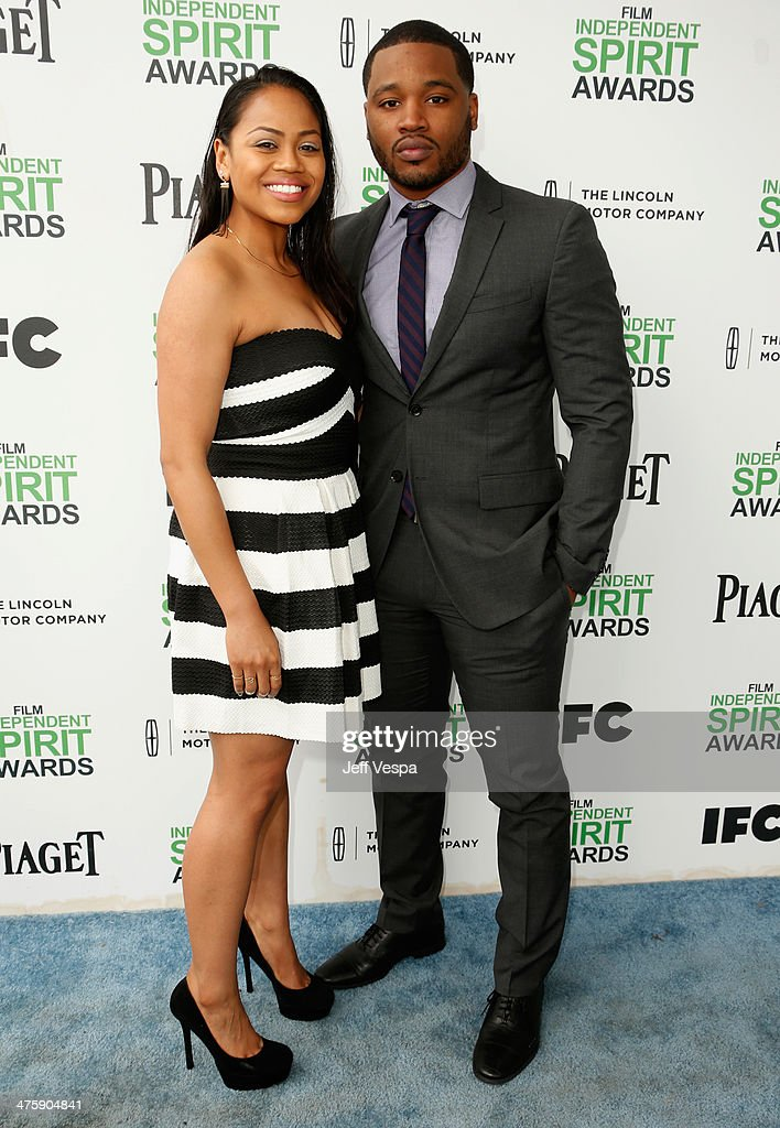 Zinzi Evans (L) and director Ryan Coogler attend the 2014 Film Independent Spirit Awards at Santa Monica Beach on March 1, 2014 in Santa Monica, California.