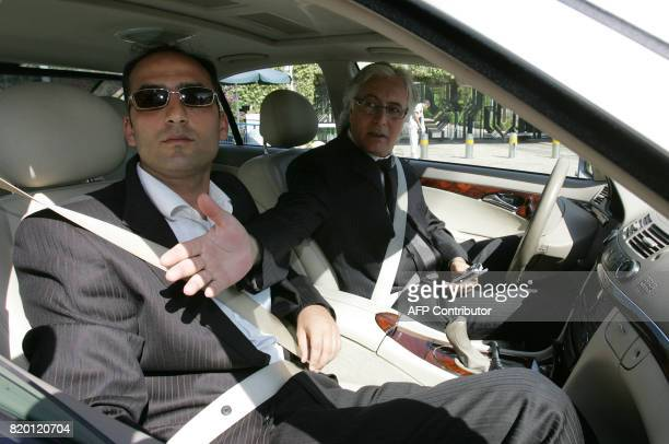 Zion Amir lawyer to Israeli President Moshe Katsav arrives at his residence in Jerusalem 23 August 2006 Katsav was being grilled by police today on...