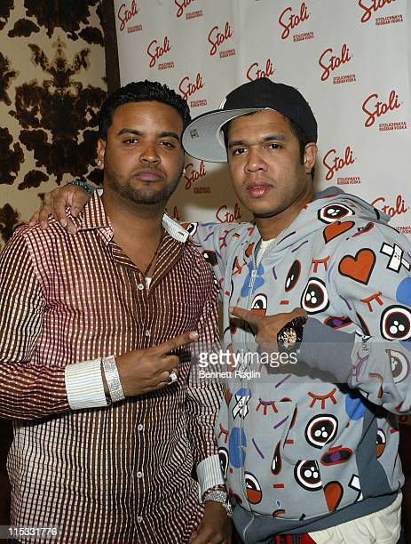 Zion and Johnny Nunez during 'Johnny Nunez 10 Years of Entertainment Photography' Sponsored by Stoli Vodka at Home in New York New York United States