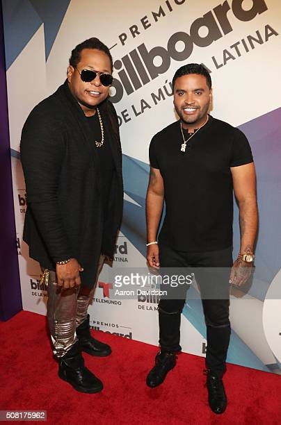 Zion and Lennox attend 2016 Billboard Latin Music Awards press conferece at Gibson Guitar Miami Showroom on February 3 2016 in Miami Florida
