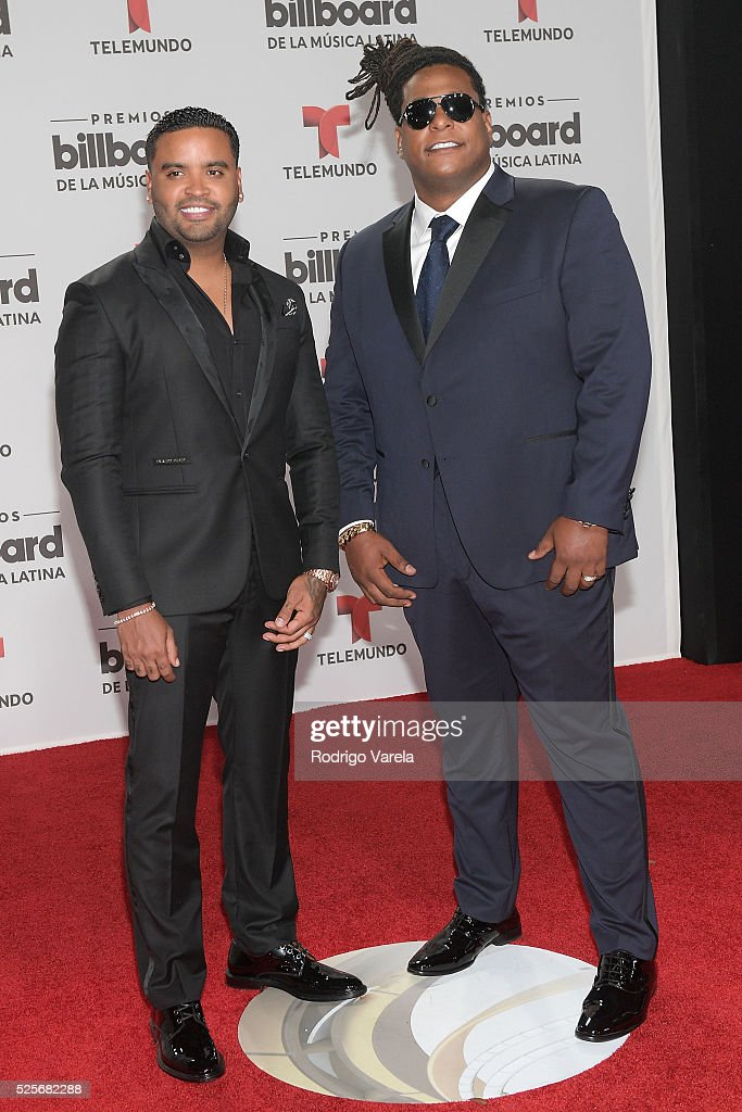 Zion & Lennox attend the Billboard Latin Music Awards at Bank United Center on April 28, 2016 in Miami, Florida.