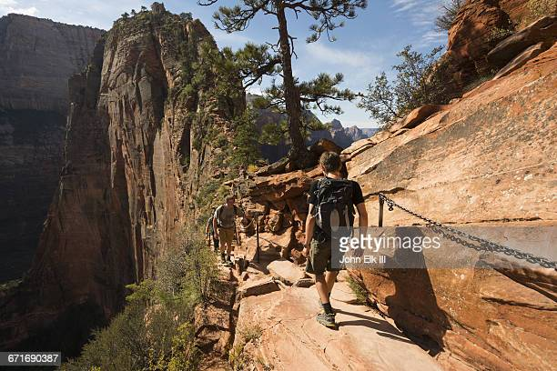 Zion National Park, Angels Landing Trail w hikers