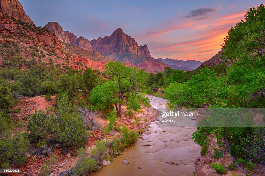 Zion National Park at sunset