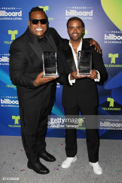 Zion y Lenox poses in the press room during the Billboard Latin Music Awards at Watsco Center on April 27 2017 in Coral Gables Florida