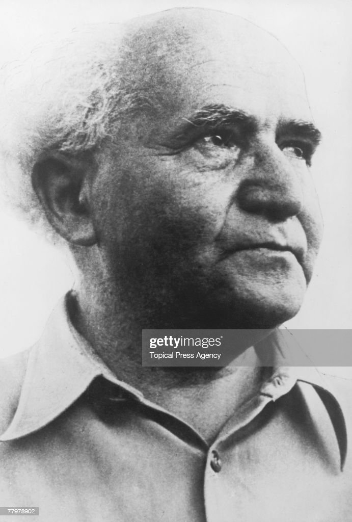 Zionism leader and first Prime Minister of Israel David BenGurion February 1957