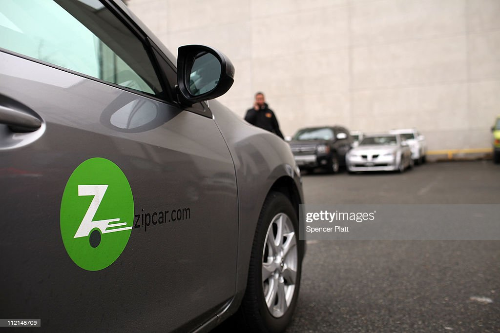 A Zipcar is parked on April 13, 2011 in the Brooklyn borough of New York City. Zipcar, a short term car rental company, is set to debut on April 14, on the Nasdaq Stock Market in hopes of raising as much as $133 million under the symbol ZIP.