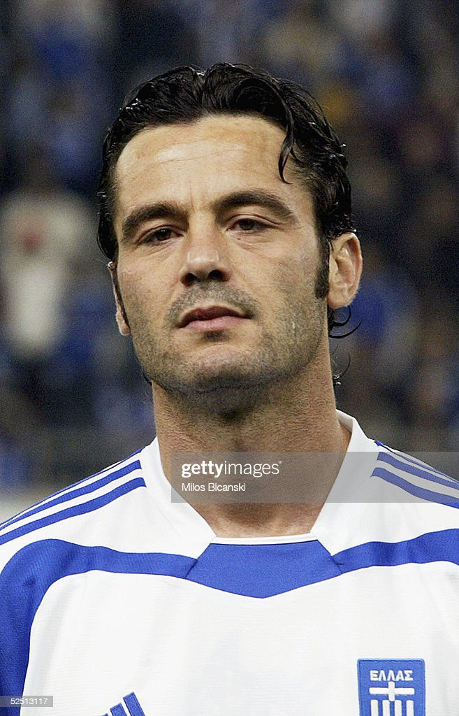 Zisis Vryzas of Greece poses for a portrait before their 2006 World Cup qualification football match against Albania on March 30, 2005 at Giorgos Karaiskaki Stadium in Athens, Greece. Greece defeated Albania 2-0.