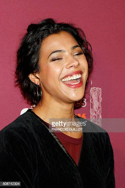 Zita Hanrot nominated as Best Female Newcomer poses during the nominations event for the 2016 César film awards on February 6 2016 in Paris The 41st...