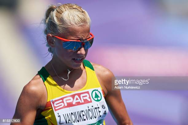 Zivile Vaiciukeviciute from Lithuania competes in 20km Race Walk Women during Day 4 of European Athletics U23 Championships 2017 at Zawisza Stadium...