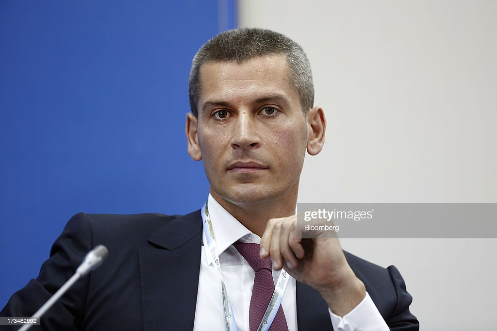 Ziyavudin Magomedov, Dagestan billionaire, pauses during a conference session on the opening day of the St. Petersburg International Economic Forum 2013 (SPIEF) in St. Petersburg, Russia, on Thursday, June 20, 2013. Russian consumer spending probably eased and investment shrank at the fastest pace since 2011, adding to evidence the $2 trillion economy is stalling. Photographer: Simon Dawson/Bloomberg via Getty Images
