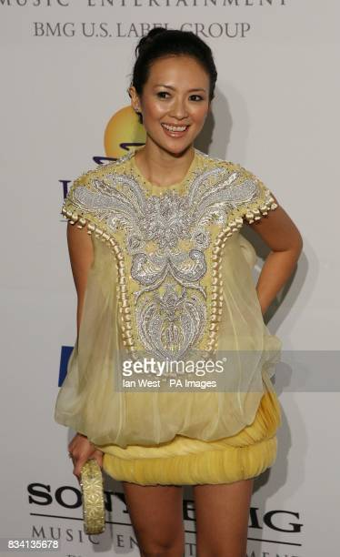 Ziyi Zhang arrives at the Carl Davis PreGrammy party at the Beverley Hilton Hotel Los Angeles
