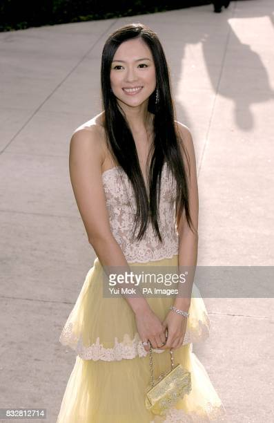 Ziyi Zhang arrives for the annual Vanity Fair Party at Mortons Restaurant Los Angeles
