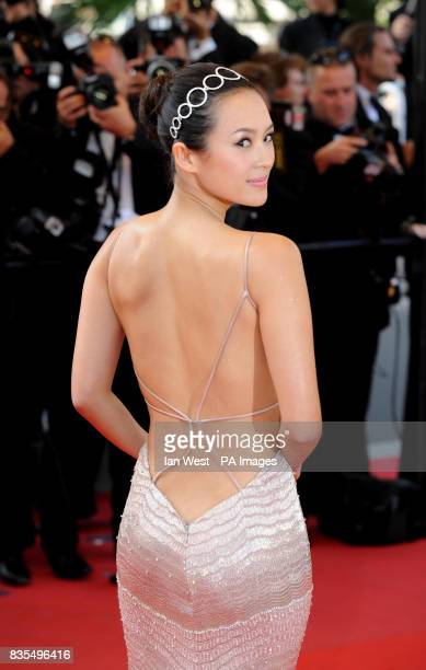 Ziyi Zhang arrives for the premiere of new film Coco Chanel and Igor Stravinsky during the Cannes Film Festival at the Palais de Festival In Cannes...