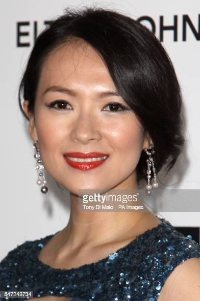 Ziyi Zhang arriving for the Elton John Aids Foundation Academy Awards Viewing Party at West Hollywood Park in Los Angeles USA on Sunday Feb 26 2012