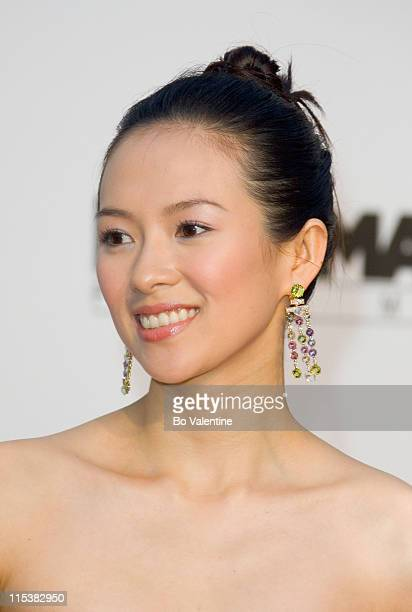 Ziyi Zhang during 2005 Cannes Film Festival AmFar Party Arrivals in Cannes France