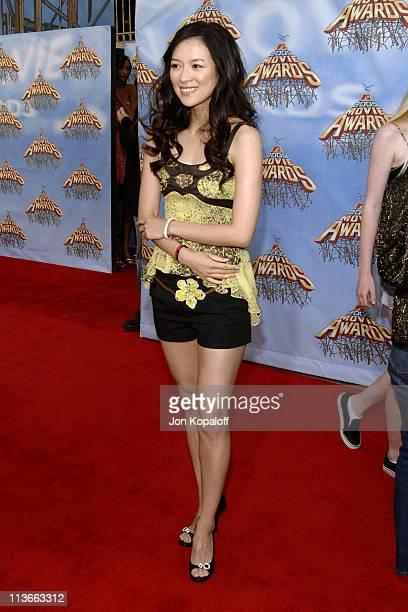Ziyi Zhang during 2005 MTV Movie Awards Arrivals at Shrine Auditorium in Los Angeles California United States