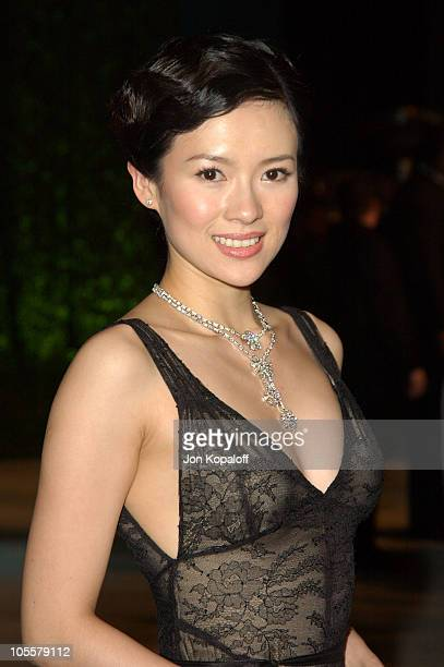 Ziyi Zhang during 2005 Vanity Fair Oscar Party at Mortons in Los Angeles California United States