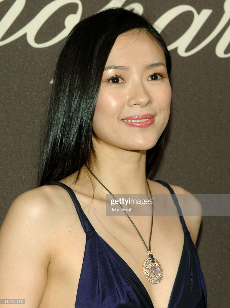 <a gi-track='captionPersonalityLinkClicked' href=/galleries/search?phrase=Ziyi+Zhang&family=editorial&specificpeople=172013 ng-click='$event.stopPropagation()'>Ziyi Zhang</a> during 2006 Cannes Film Festival - Chopard Trophy Awards Ceremony - Arrivals at Carlton Hotel in Cannes, France.