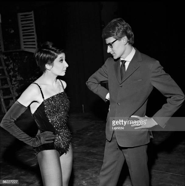 Zizi Jeanmaire and Yves Saint Laurent Paris Alhambra December 1961 LIP005010029