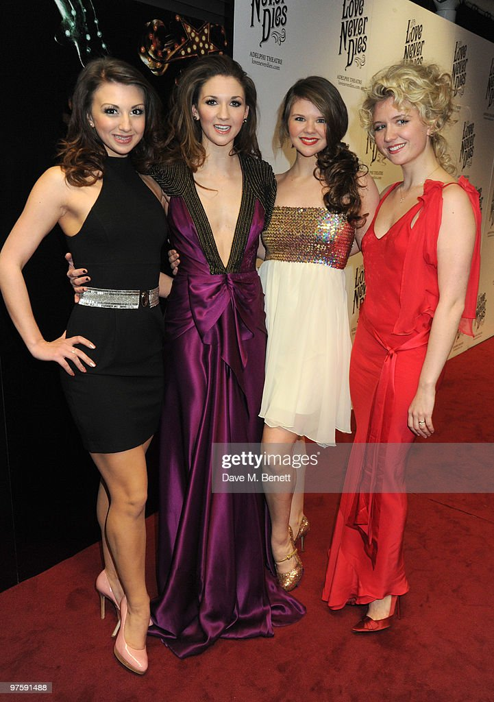 Zizi, Summer, Sasi and Scarlett Strallen attend the afterparty following the world premiere of 'Love Never Dies' at the Old Billingsgate Market on March 9, 2010 in London, England.