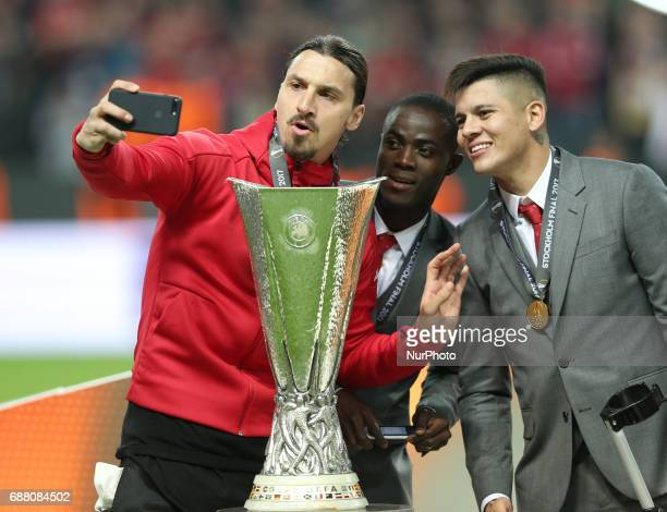 Zlatan Ibrahimovi during the UEFA Europa League Final match between Ajax and Manchester United at Friends Arena on May 24 2017 in Stockholm Sweden