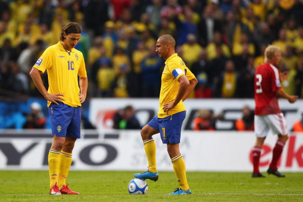 Sweden v Denmark - FIFA2010 World Cup Qualifier : News Photo