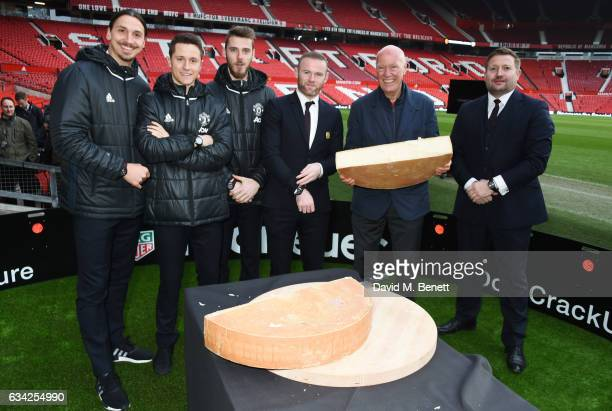 Zlatan Ibrahimovic Ander Herrera David De Gea Wayne Rooney JeanClaude Biver TAG Heuer CEO and President of the LVMH Watch Division and Richard Arnold...