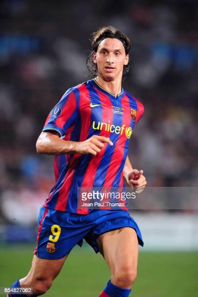 Zlatan IBRAHIMOVIC Barcelone / Shakhtar Donetsk Super Coupe d Europe 2009 Stade Louis II de Monaco