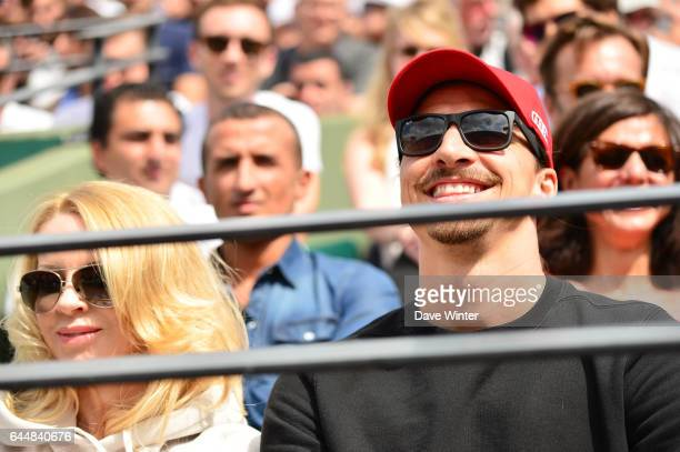Zlatan IBRAHIMOVIC / Helena SEGER Jour 5 Roland Garros 2015 Photo Dave Winter / Icon Sport