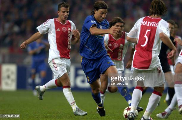 Zlatan Ibrahimovic of Juventus FC in action during the Champions League macht played between Ajax of Amsterdam and Juventus of Turin at Amsterdam...