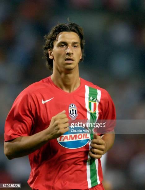 Zlatan Ibrahimovic of Juventus FC in action during Tim Cup with JuventusInterMilan played at Nereo Rocco stadium in Trieste