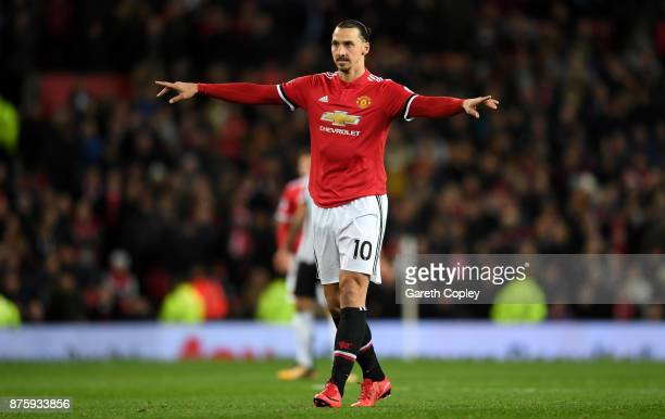 Zlatan Ibrahimovic of Manchester United during the Premier League match between Manchester United and Newcastle United at Old Trafford on November 18...