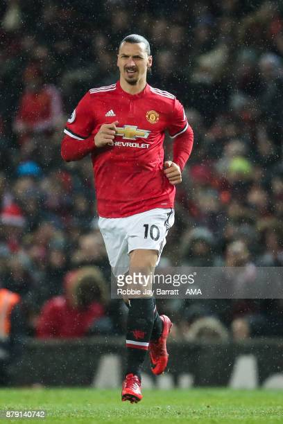 Zlatan Ibrahimovic of Manchester United during the Premier League match between Manchester United and Brighton and Hove Albion at Old Trafford on...