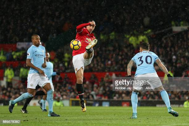 Zlatan Ibrahimovic of Manchester United during the Premier League match between Manchester United and Manchester City at Old Trafford on December 10...